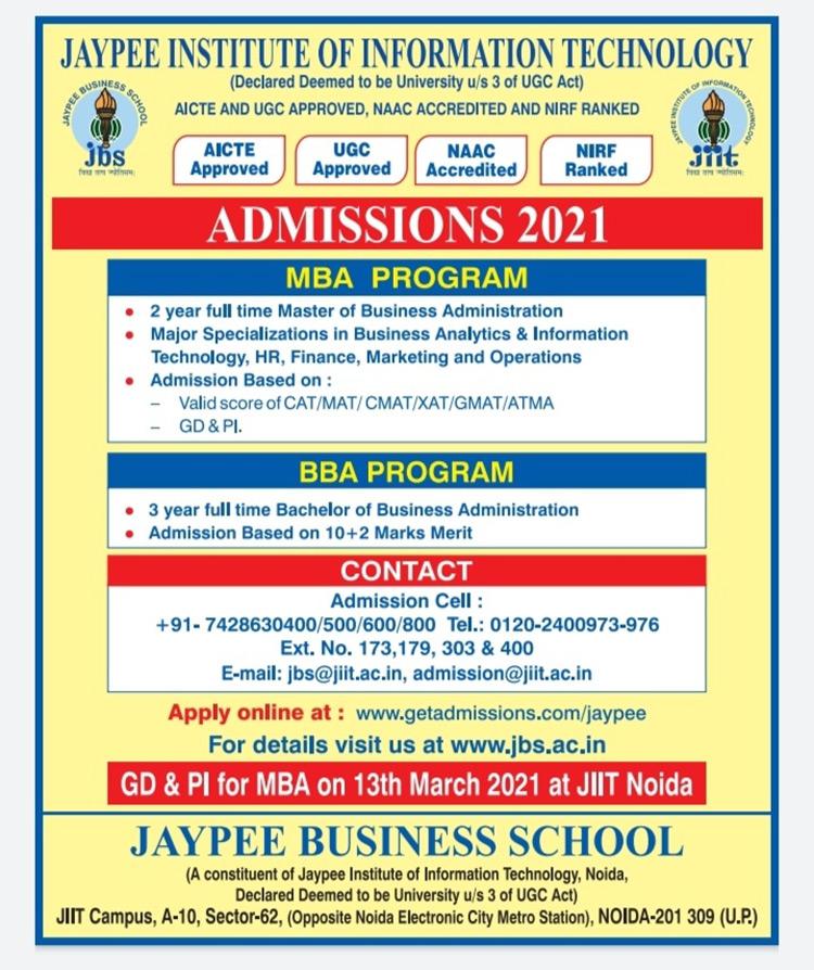GD/PI Details | Jaypee Business School Noida | Jaypee