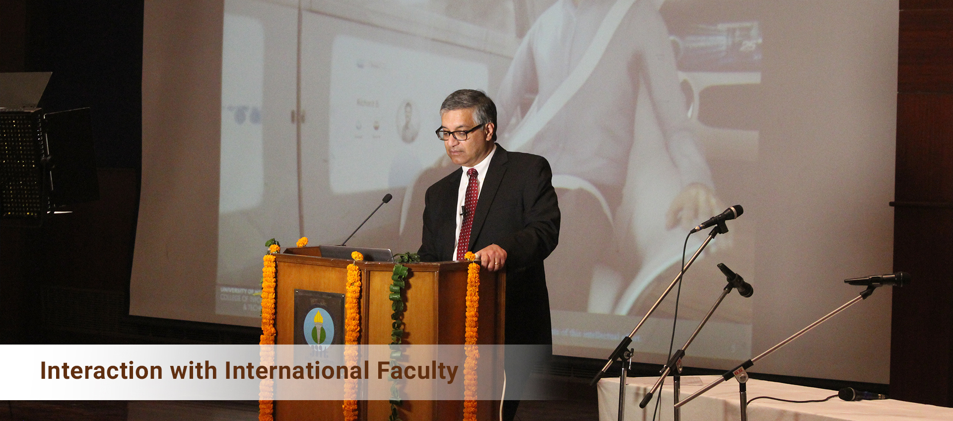 Interaction with International Faculty