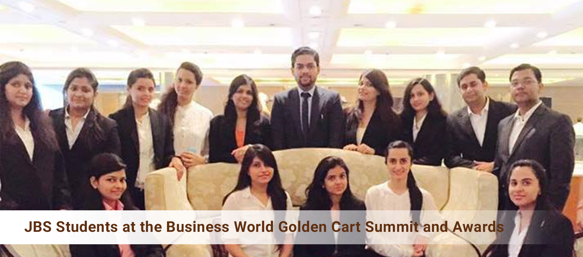 JBS Students at the Business World Golden Cart Summit and Awards